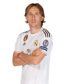 Picture of the 1.72 m (5 ft 7 in)  tall Croatian central midfielder  of Real Madrid C.F.