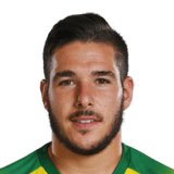 Picture of the 1.72 m (5 ft 8 in) tall Argentinian right winger of Norwich City