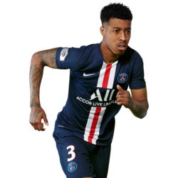 Picture of the 1.83 m (6 ft 0 in) tall French centre back of Paris Saint-Germain