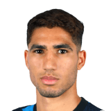 Picture of the 1.81 m (5 ft 11 in) tall Moroccan right back of Inter Milan