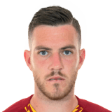 Picture of the 1.77 m (5 ft 9.5 in) tall French  midfielder of A.S. Roma